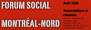 Forum Social Montréal-Nord 2009